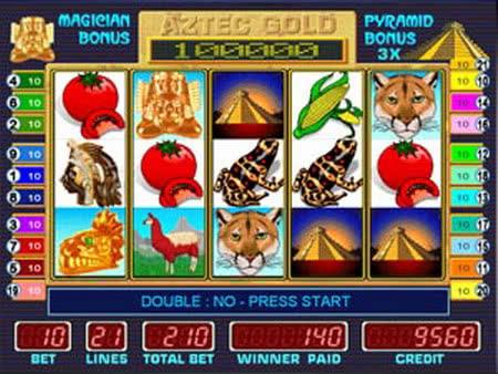 Игровые автоматы Золото ацтеков, Пирамида играть бесплатно онлайн.